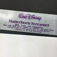Vintage IBM Tandy Computer Software, Walt Disney Matterhorn Screamer 5.25 floppy