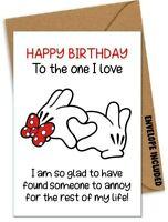 Funny HAPPY BIRTHDAY Card Boyfriend Husband Girlfriend Wife Partner Rude /AB