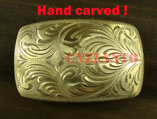 Hand carved Solid Brass Classical plate Belt Buckles for 1.5 inch (38mm) belt