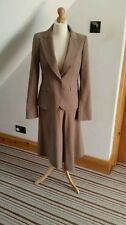 Coast~Ladies Brown & Pink Pinstripe Skirt Suit;Jacket 10, Skirt 8~Work/Interview