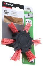Tivoly NYLON ABRASIVE CIRCULAR BRUSH 100mm 2500rpm Works On Curved Surfaces