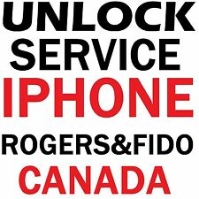 Rogers Fido Canad iPhone 7 7+ 6S 6S+ 6 6+ 5S 5C 5 4 Premium Factory Service Code