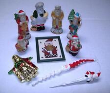 10 SANTA CLAUS Ornaments Collection St NICK KRIS KRINGLE Figurine Assortment Lot