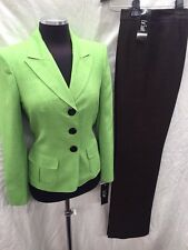 """LESUIT PANT SUIT/GREEN/BROWN/NEW WITH TAG/SIZE 18/LINED/RETAIL$200/INSEAM 32""""/"""
