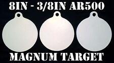 8 Inch Dia. AR500 Metal Targets-Metal Shooting Targets-Metal Pistol Targets-3pc