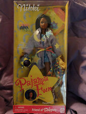 MATTEL NIB NRFB BARBIE DOLL 1999 PAJAMA FUN NIKKI TEEN SKIPPER 3+ Pink Box