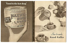 1931 MAXWELL HOUSE How To Make Good COFFEE Giveaway Premium Advertising Booklet