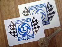 "BRITISH LEYLAND Classic Car STICKERS 3"" Pair MINI 1275GT JAGUAR XJS TR7 MG Rover"