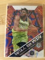 2019-20 NBA Panini Mosaic Karl Anthony Towns Will To Win Prizm /99 Quick Ship!