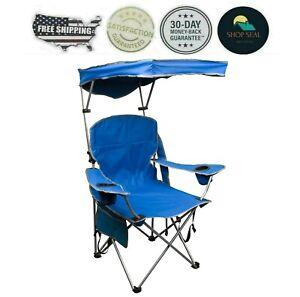 Sillas De Campamento Playa Con Sombrilla Sombra Dosel Plegable Portavasos