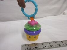 Fisher price infant baby cupcake rattle toy seet treat
