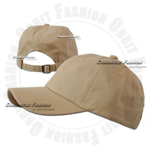 Cotton Hat Baseball Cap Washed Polo Style Adjustable Plain Solid Blank Dad Men
