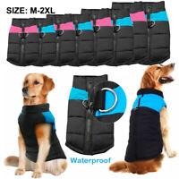 Waterproof Pet Dog Warm Padded Vest Coat Clothes Puppy Winter Jacket Apparel