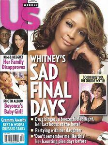 US WEEKLY Magazine February 27 2012 Whitney Houston Kim Kardashian Beyonce