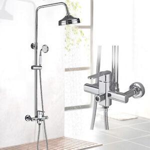 Chrom Duschpaneel Regenduschmischer Massagedüsen Duscharmaturen Duschsystem DE