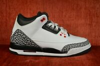 VNDS Nike Air Jordan 3 III Retro GS Infrared 23 Wolf Gray Cement 6 Y 398614-123