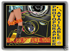 Camera photographer METAL sign fashion models RETRO style studio office art 424