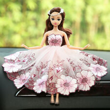 Wedding Dress Pink Cute Barbie Dolls Car Accessories Interior Girls Decoration