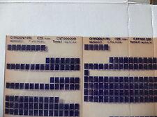 n°h307 lot  2 microfiche d'epoque citroen c25 n°220