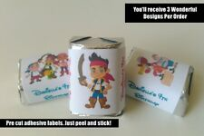 30 JAKE AND THE NEVERLAND PIRATES BIRTHDAY PARTY FAVORS HERSHEY NUGGET LABELS