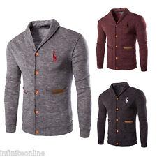 Fashion Men Knitted Sweater Cardigan Casual Slim Fit Knitwear Coat Jacket Tops
