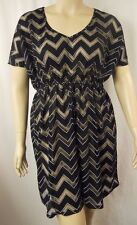 City Chic Sexy Black Monochrome Kaftan Cover-Up Beach Plus Size XS 14 BNWOT C558