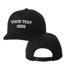CUSTOM PERSONALIZED FLEXFIT SNAPBACK Hat Cap Black 1 Side Embroidery
