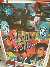 THE STRAY CATS ORIGINAL 'BLAST OFF' POSTER, GREAT CONDITION, 86 CM X 62 CM