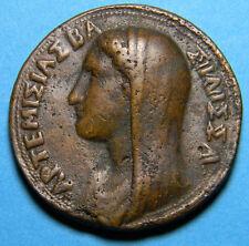 """Greece 353-350 Artemisia Ii Bronze Medal by Alessandro Cesati """"il Grecchetto"""""""