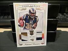 National Treasures Rookie Player Worn Jersey Rams Todd Gurley  07/10  2015
