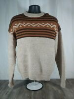 Mens Vintage Jantzen Pullover Grandpa Sweater Long Sleeve Made in USA  Size L