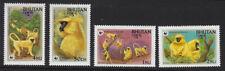 Mammals :1984 Bhutan-Golden Langur /Wwf set Sg521-4 Mnh