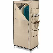 "Honey Can Do 27"" Storage Closet with Shoe Organizer, Khak W"