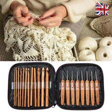20pcs Bamboo Crochet Hook Knitting Needles Set Sewing&DIY Chunky Wool Yarn Tools