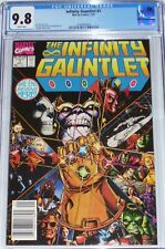 Infinity Gauntlet #1 CGC 9.8 UPC Newsstand Edition July 1991 Thanos vs Everyone