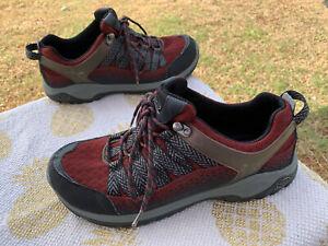 Chaco J105015 Men's Size 10 Trail Hiking Walking Dark Red Black Gray Sneakers