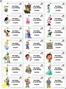 ASSORTED BIRTHDAY GIFT STICKY LABELS ADULT and CHILDREN x 42