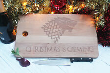 Chopping Board Game of Thrones Style Christmas is Coming