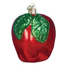 RED APPLE OLD WORLD CHRISTMAS GLASS FRUIT ORCHARD FALL ORNAMENT NWT 28114