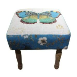 New Heaven Sends Butterfly Footstool Foot Stool Wood Wooden Legs Sitting Bedroom