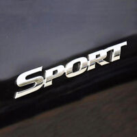 Sport 3D Aufkleber Sticker Auto Motorrad Silber Turbo Edition Racing Chrom Car