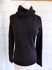 100% CASHMERE Marissa Christina black cowl neck pullover sweater- Sz.M