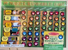 Melissa & Doug Magnetic Responsibility Chart with 90 Magnets Ages 3+ NIP