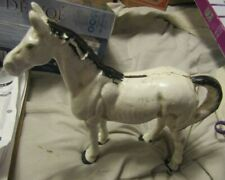 Vintage Cast Iron Horse White Stallion Detailed It's Also A Bank