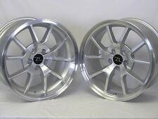 """18"""" Silver Mustang FR500 Style Wheels Rims Staggered 18x9 18x10 5x114.3 94-04"""