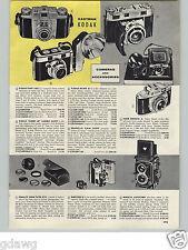 1958 PAPER AD Eastman Kodak Retina III 35MM Camera Minicord Reflex Polariod Land