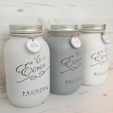 Tea Coffee Sugar Mason Jars - 1L Kitchen Canisters - Grey Shades - Kilner 990123