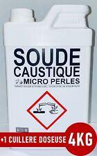 ⭐ 4KG SOUDE CAUSTIQUE MICRO PERLES HYDROXYDE DE SODIUM 99% PURE +1 Doseuse 25ml