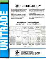 "UNITRADE (Vario Style)  FLEXO-GRIP ORDER #SF3S BLACK 3 STRIPS 5 PAGES 8.5""x11"""