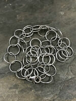"""18"""", 12mm, vtg handmade sterling silver chain, 925 Italy bold circle necklace"""
